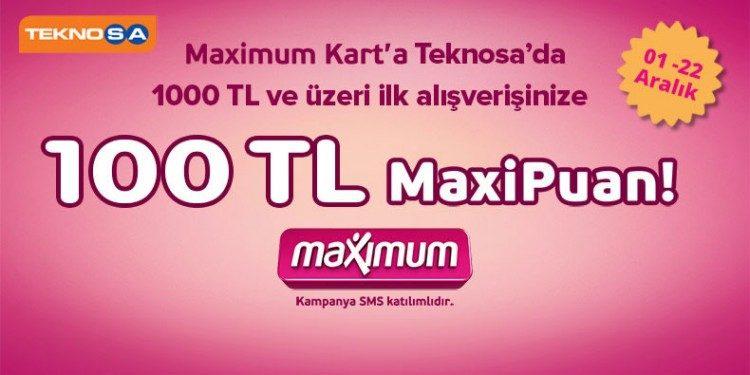 100 TL MaxiPuan Hediye