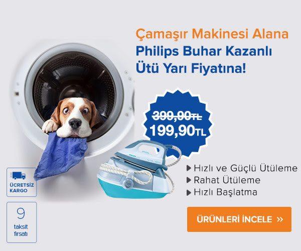 Çamaşır Makinesi Alana Philip Buhar Kazanlı Ütü Yarı Fiyatına