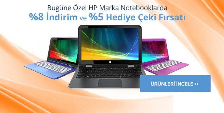 HP Notebooklarda %8 İndirim ve %5 Teknosa Hediye Çeki