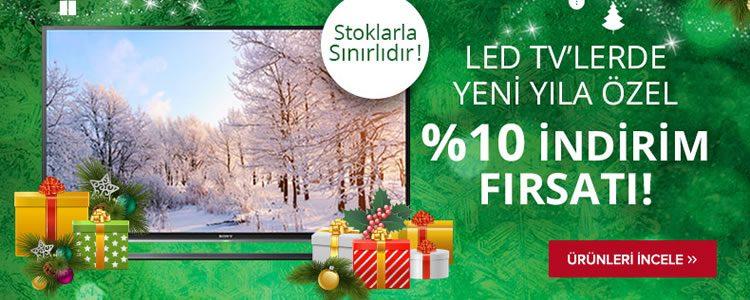 LED TV'lerde %10 İndirim!