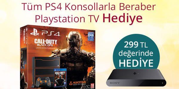 PS4 Alana PlayStation TV ve 150 TL Hediye Çeki