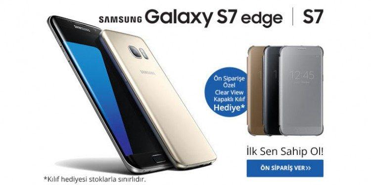 Samsung Galaxy S7 Ön Siparişi 199 TL Değerinde Kılıf Hediyeli