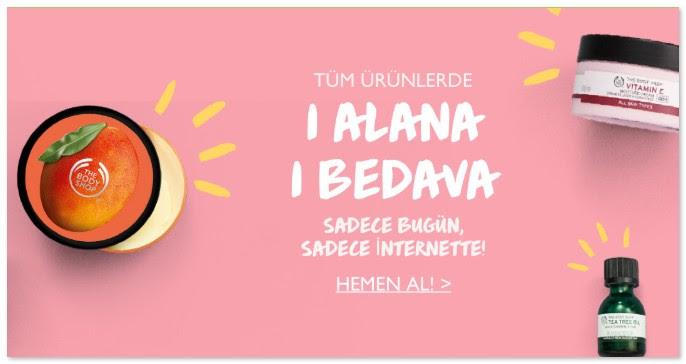 The Body Shop'ta Buügne Özel 1 Alana 1 Bedava!