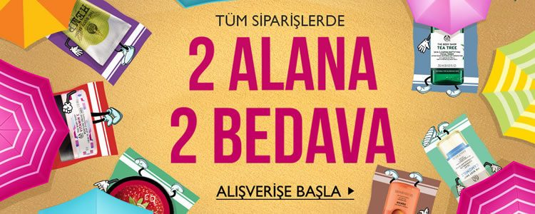 The Body Shop'ta İnternete Özel 2 Alana 2 Bedava!