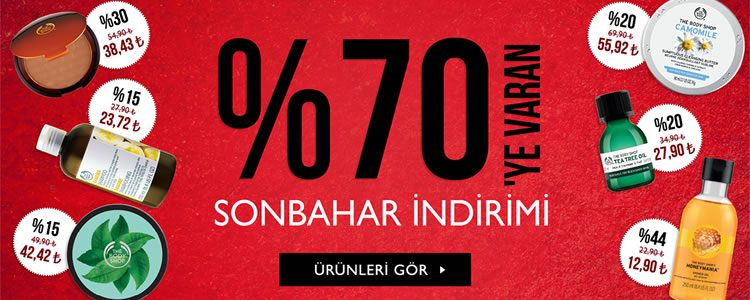 %70'e Varan The Body Shop Sonbahar İndirimi