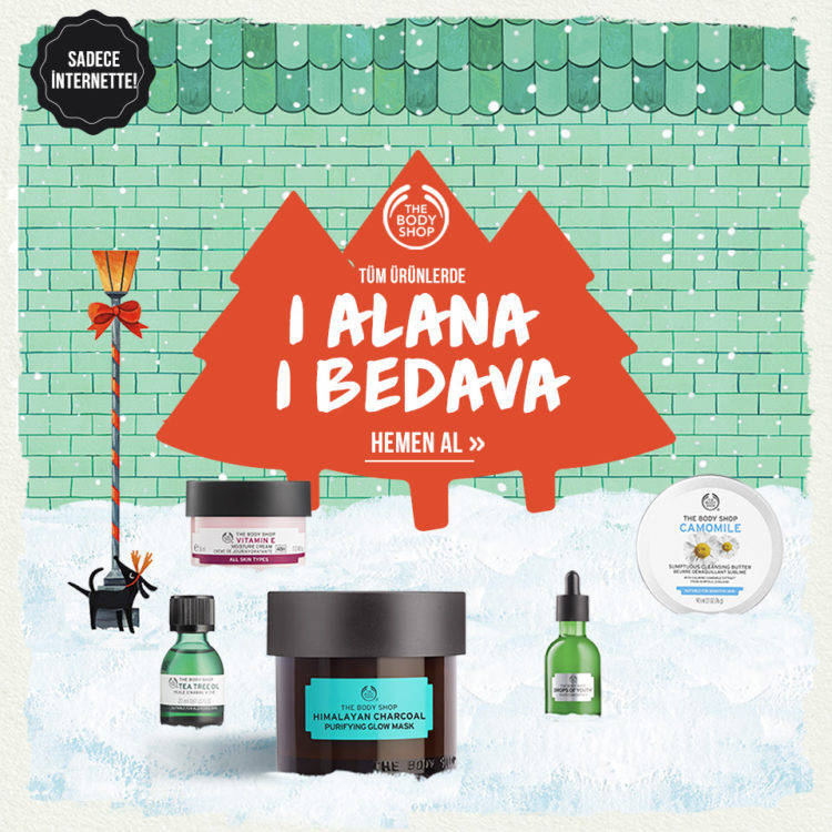 The Body Shop'ta Online'a Özel 1 Alana 1 Bedava!