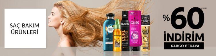 Saç Bakım Ürünlerinde %60'a Varan İndirim