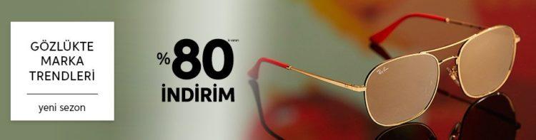 Markalı Gözlüklerde %80'e Varan İndirim