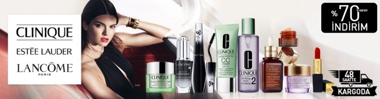 Clinique, Lancome ve Estee Lauder İndirimi