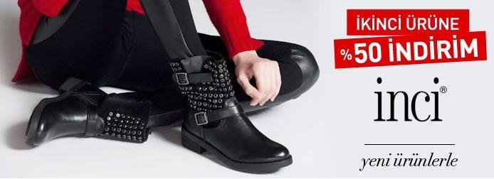 İnci ayakkabı, bot ve çizmelerde ikinci ürüne %50 indirim
