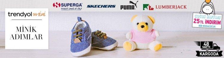 Trendyol İndirim Kuponu ile Superga, Skechers, Puma 25 TL İndirimli