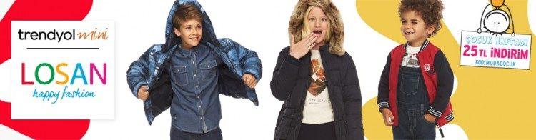 Trendyol İndirim Kuponu: Losan Çocuk Giyimde 25 TL İndirim