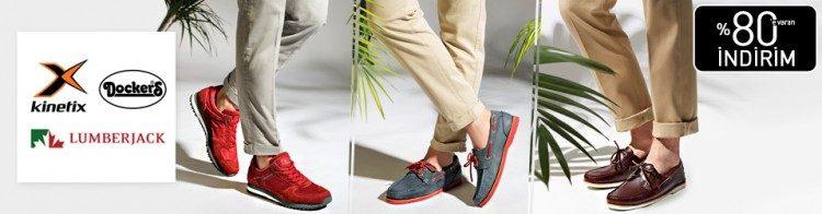 Lumberjack, Dockers ve Kinetix Ayakkabılarda İndirim
