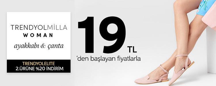 Ayakkabı ve Çanta 19 TL'den Başlayan Fiyatlarla