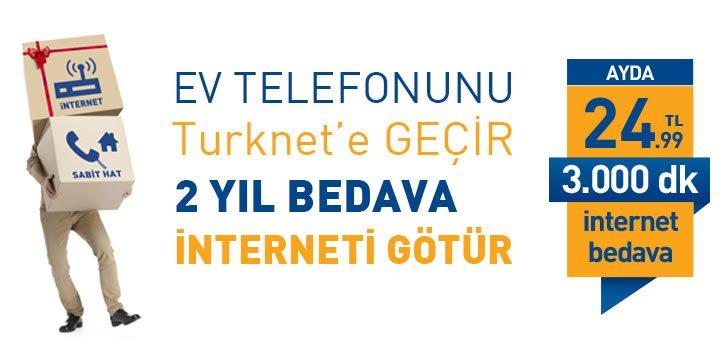 Ev Telefonunu TurkNet'e Geçirene 2 Yıl Bedava İnternet