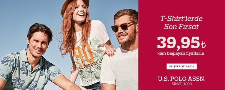 U.S. Polo Assn. İndirimi: T-shirtler 39,95 TL