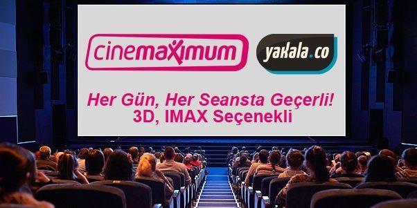 Tüm Cinemaximum'larda Geçerli Sinema Bileti 13,50 TL