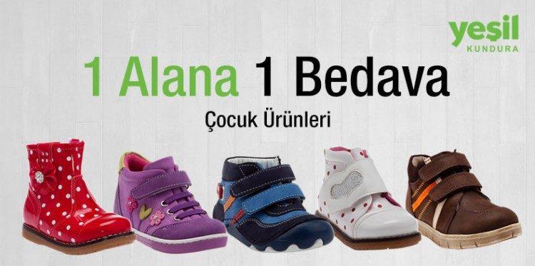 Çocuk Ayakkabılarında 1 Alana 1 Bedava