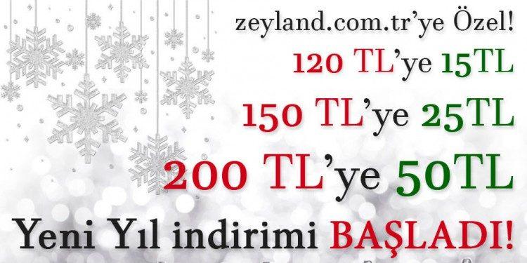 Yılbaşına Özel 50 TL Zeyland İndirim Kampanyası